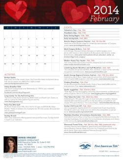Austin February Events Calendar  86707_front